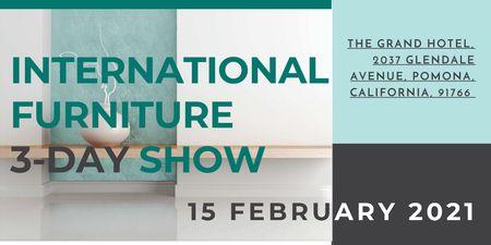 Plantilla de diseño de International furniture show Twitter