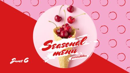 Designvorlage Red Cherries in waffle cone für FB event cover