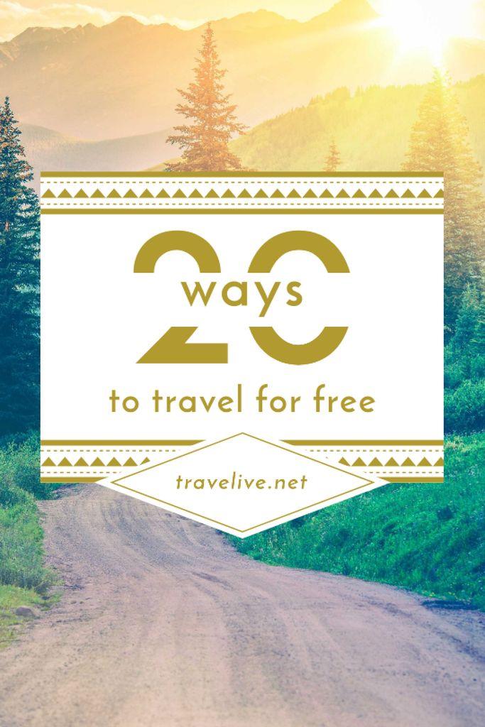 Travel Ideas Scenic Mountain Road — Создать дизайн