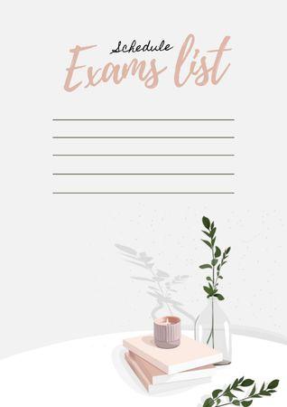 Exams List Schedule Schedule Planner – шаблон для дизайна