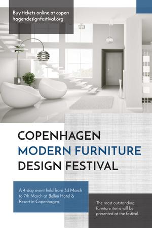 Plantilla de diseño de Copenhagen modern furniture design festival Pinterest