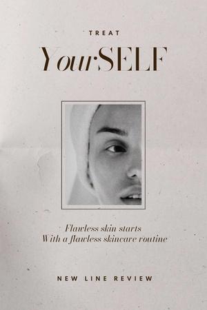 Plantilla de diseño de Skincare Ad with Woman in Bath Towel Pinterest