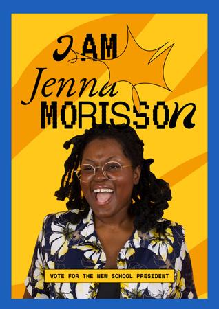 Modèle de visuel School President Candidate Announcement - Poster
