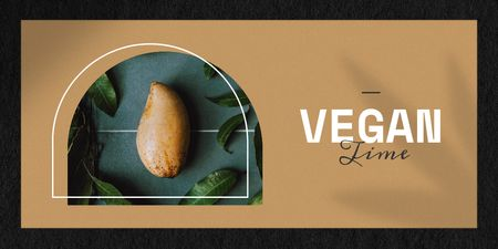 Szablon projektu Vegan Lifestyle Concept with Vegetable and Leaves Twitter