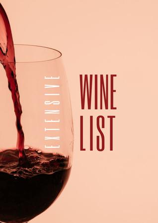Splash of Wine in Glass Poster Tasarım Şablonu
