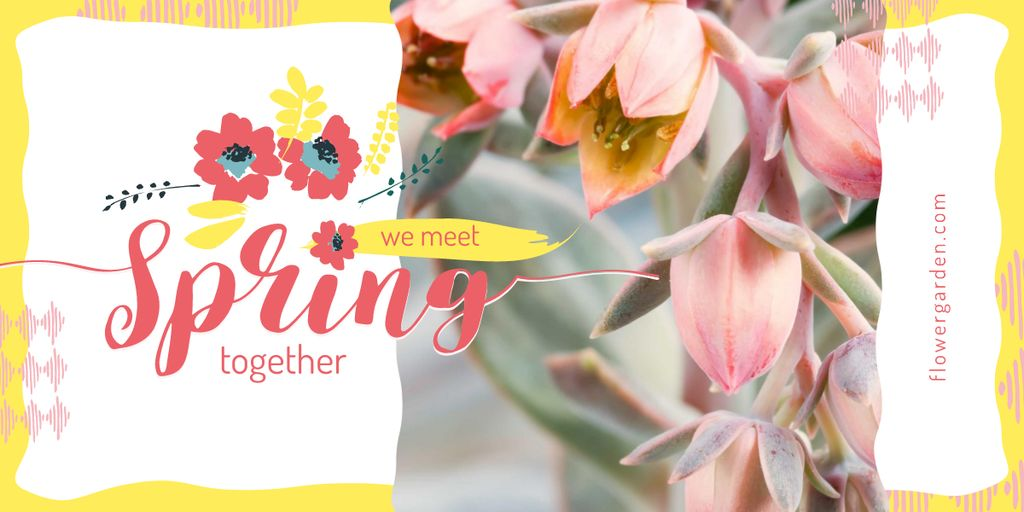 Bright blooming flowers — Crear un diseño