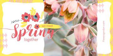 Bright blooming flowers