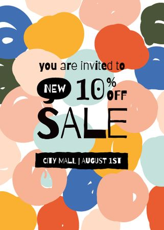 Bright Sale Offer Announcement Invitation Modelo de Design