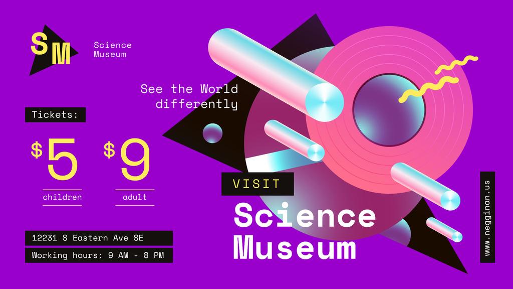 Science Museum invitation Digital Pattern in Purple — Create a Design