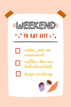 Ontwerpsjabloon van Pinterest van Cute List of Food