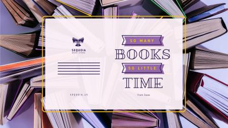Book Store Promotion Books in Purple Full HD videoデザインテンプレート