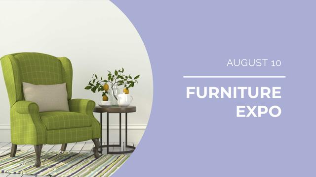 Ontwerpsjabloon van FB event cover van Furniture Studio Armchair in Cozy Room
