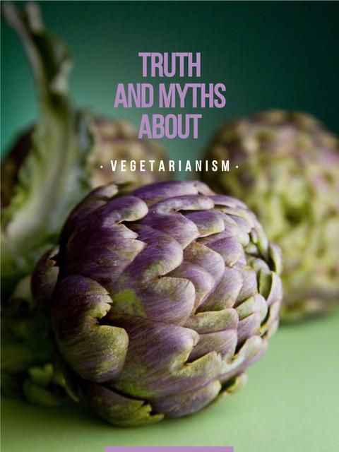 Bunch of green artichokes for Vegetarian diet Poster US – шаблон для дизайна