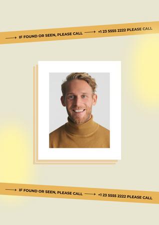 missing Poster – шаблон для дизайна