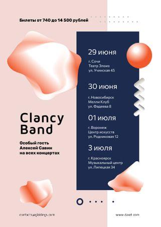 Band Concert Announcement in Pink Flayer – шаблон для дизайна