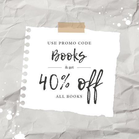 Plantilla de diseño de Special Book Offer with Discount Instagram AD
