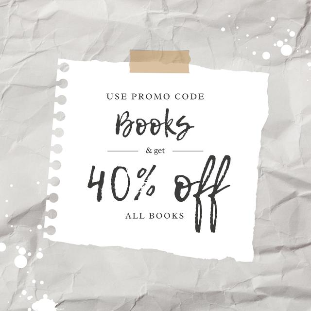 Template di design Special Book Offer with Discount Instagram AD