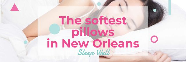 Ontwerpsjabloon van Twitter van The softest pillows in New Orleans