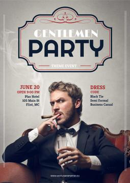 Gentlemen party invitation