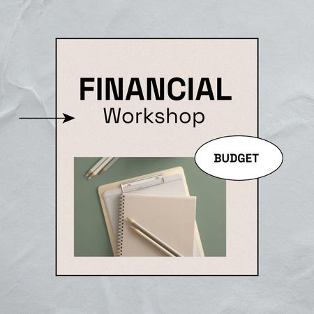Ontwerpsjabloon van Animated Post van Financial Workshop Promotion with Notebook