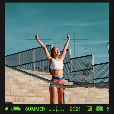 Summer Inspiration with Stylish Girl in Urban Instagram Modelo de Design