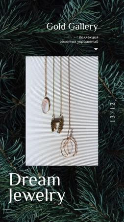 Accessories Offer Pendants and Necklaces Instagram Video Story – шаблон для дизайна