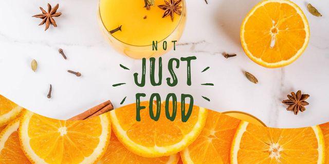 Fresh oranges and spices drink Image – шаблон для дизайну