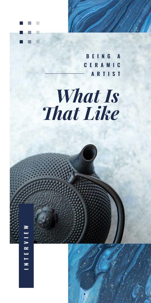Cast iron tea pot Graphic Tasarım Şablonu