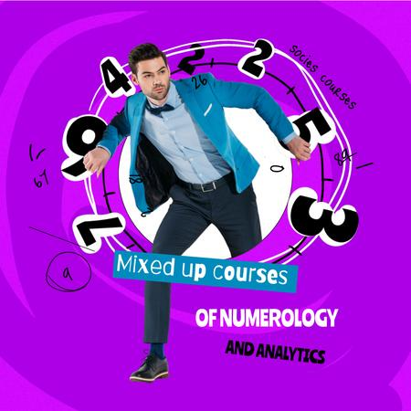 Business Courses Ad with Funny Man Animated Post – шаблон для дизайна