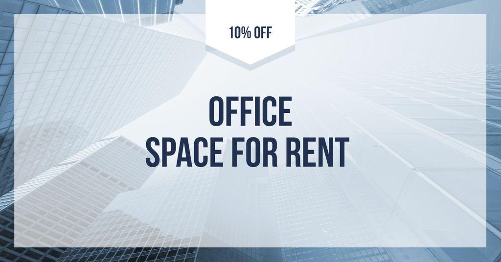 Modèle de visuel Office Space for Rent Offer - Facebook AD
