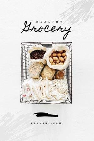 Healthy Grocery in Shopping Basket Tumblr tervezősablon