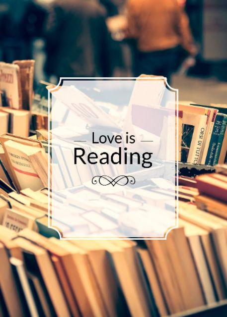 Reading Inspiration Books on Shelves Flayer Modelo de Design