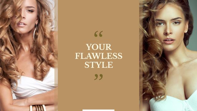 Style Quote with Women with Curly hair Youtube – шаблон для дизайна