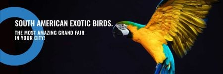 Ontwerpsjabloon van Email header van South American exotic birds shop
