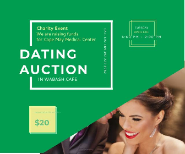 Dating Auction in Wabash Cafe Large Rectangleデザインテンプレート