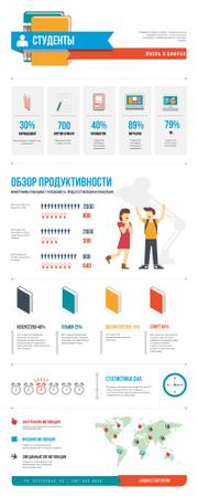 Education infographics about College life Infographic – шаблон для дизайна