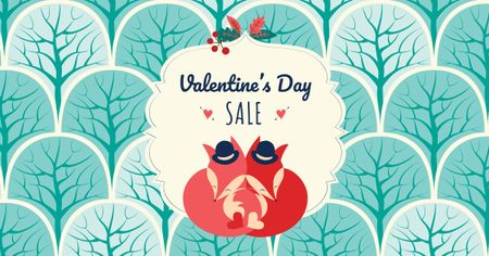 Plantilla de diseño de Valentine's Day Sale Offer Facebook AD