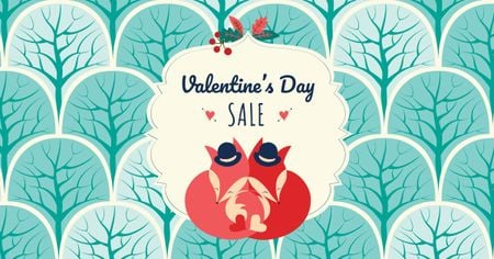Designvorlage Valentine's Day Sale Offer für Facebook AD