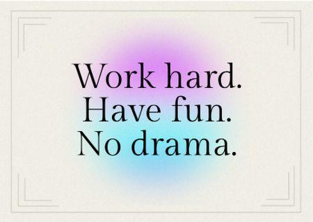 Funny Bright Inspirational Phrase Card – шаблон для дизайну
