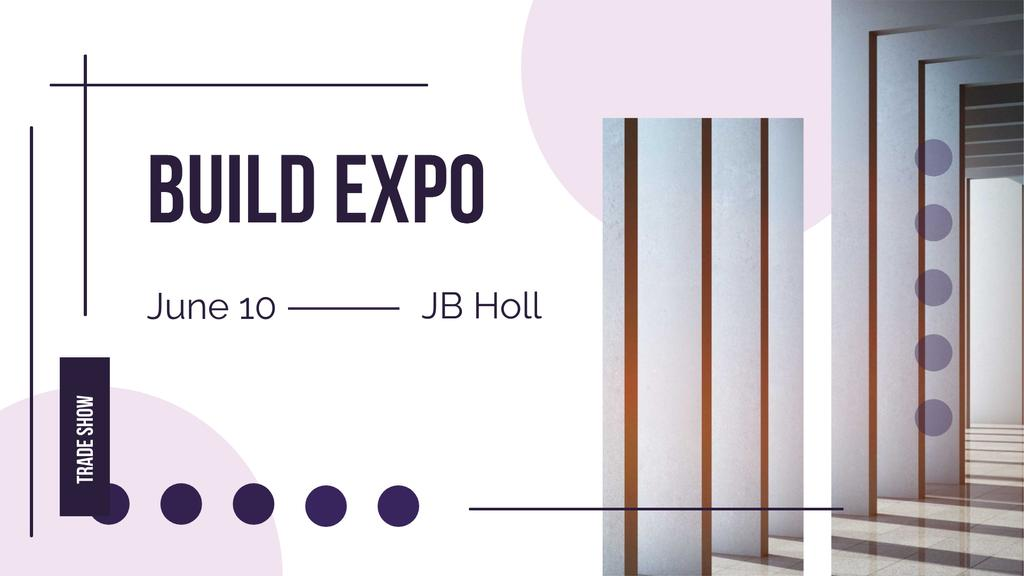 Build Expo Announcement with Pink Circles — Create a Design