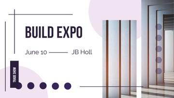 Build Expo Announcement with Pink Circles