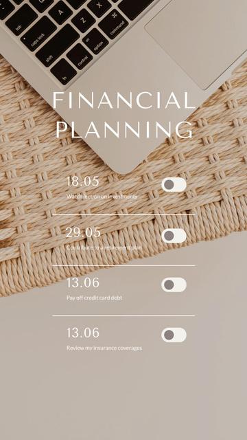 Finance Planning schedule Instagram Story Modelo de Design