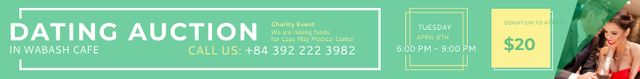 Dating Auction in Wabash Cafe Leaderboard – шаблон для дизайна