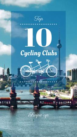 Plantilla de diseño de Cycling routes in city Instagram Story