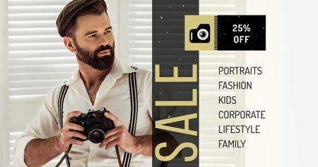 Photography Services Offer Facebook AD – шаблон для дизайну