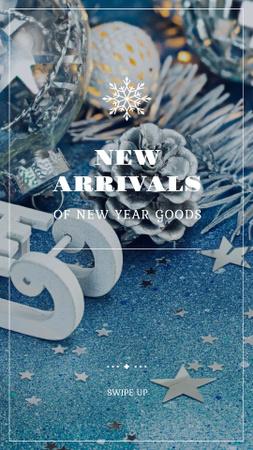 Ontwerpsjabloon van Instagram Story van Christmas Special Offer with Festive Decorations