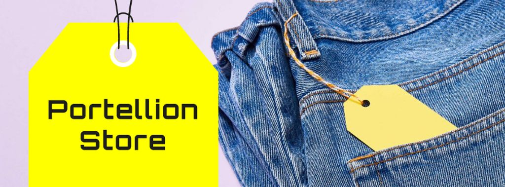 Fashion Sale Ad with Blue Jeans — Створити дизайн
