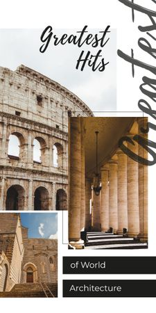 Plantilla de diseño de Ancient Colosseum view Graphic