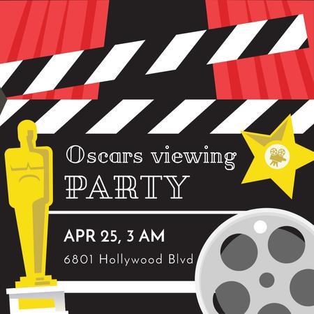 Template di design Annual Academy Awards viewing party Instagram AD