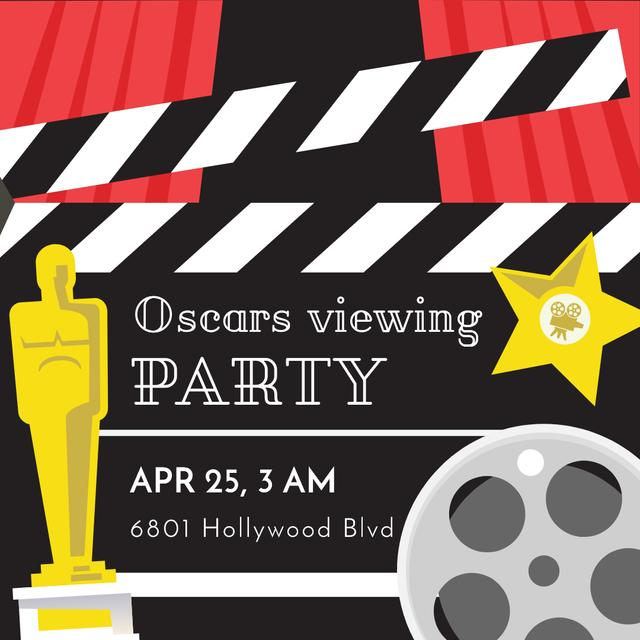 Annual Academy Awards viewing party Instagram AD Tasarım Şablonu